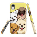 For iPhone XR Case Tough Protective Cover Cute Puppies