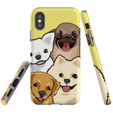 For iPhone XS & X Case Tough Protective Cover Cute Puppies