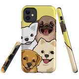 For iPhone 11 Case Tough Protective Cover Cute Puppies