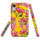 For iPhone XR Case Tough Protective Cover Flower Pattern