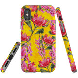 For iPhone XS & X Case Tough Protective Cover Flower Pattern