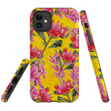For iPhone 11 Case Tough Protective Cover Flower Pattern