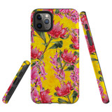 For iPhone 11 Pro Case Tough Protective Cover Flower Pattern