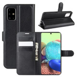 For Galaxy A71 5G Lychee Folio Protective Case, Kickstand, Wallet, Black | iCoverLover.com.au | Samsung Galaxy A Cases