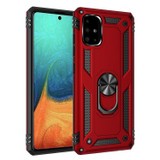 For Galaxy A71 4G Shockproof TPU + PC Protective Case ,Ring Holder, Red | iCoverLover.com.au | Samsung Galaxy A Cases