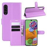 For Galaxy A90 5G Lychee Folio Leather Case, Wallet & Holder & Card Slots, Purple   iCoverLover.com.au   Samsung Galaxy A Cases