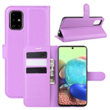 For Galaxy A71 5G Lychee Folio Protective Case, Kickstand, Wallet, Purple   iCoverLover.com.au   Samsung Galaxy A Cases