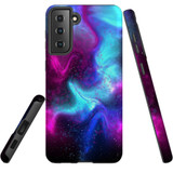 For Samsung Galaxy S21+ Plus Case, Tough Protective Back Cover, Abstract Galaxy | Protective Cases | iCoverLover.com.au