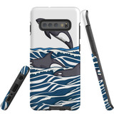 For Samsung Galaxy S10+ Plus Case, Tough Protective Back Cover, Orcas | Protective Cases | iCoverLover.com.au