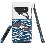 For Samsung Galaxy S10 Case, Tough Protective Back Cover, Orcas | Protective Cases | iCoverLover.com.au