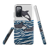 For Samsung Galaxy S20 FE Fan Edition Case, Tough Protective Back Cover, Orcas | Protective Cases | iCoverLover.com.au