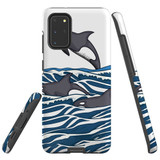 For Samsung Galaxy S20+ Plus Case, Tough Protective Back Cover, Orcas | Protective Cases | iCoverLover.com.au