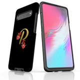 For Samsung Galaxy S21 Ultra/S21+ Plus/S21,S20 Ultra/S20+/S20,S10 5G, S10+/S10/S10e, S9+/S9 Case, Tough Protective Back Cover, Embellished Letter P | Protective Cases | iCoverLover.com.au
