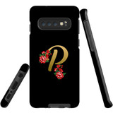 For Samsung Galaxy S10 Case, Tough Protective Back Cover, Embellished Letter P | Protective Cases | iCoverLover.com.au