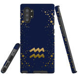 For Samsung Galaxy Note 20 UItra/Note 20/Note 10+ Plus/Note 10/9 Case, Tough Protective Back Cover, Aquarius Sign | Protective Cases | iCoverLover.com.au