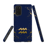 For Samsung Galaxy Note 20 Case, Tough Protective Back Cover, Aquarius Sign | Protective Cases | iCoverLover.com.au