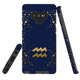 For Samsung Galaxy Note 9 Case, Tough Protective Back Cover, Aquarius Sign | Protective Cases | iCoverLover.com.au