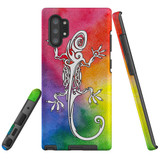 For Samsung Galaxy Note 20 UItra/Note 20/Note 10+ Plus/Note 10/9 Case, Tough Protective Back Cover, Rainbow Lizard | Protective Cases | iCoverLover.com.au