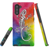For Samsung Galaxy Note 10 Case, Tough Protective Back Cover, Rainbow Lizard | Protective Cases | iCoverLover.com.au