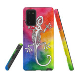For Samsung Galaxy Note 20 Case, Tough Protective Back Cover, Rainbow Lizard | Protective Cases | iCoverLover.com.au