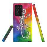 For Samsung Galaxy Note 20 Ultra Case, Tough Protective Back Cover, Rainbow Lizard | Protective Cases | iCoverLover.com.au
