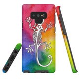 For Samsung Galaxy Note 9 Case, Tough Protective Back Cover, Rainbow Lizard | Protective Cases | iCoverLover.com.au