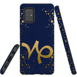 For Samsung Galaxy A71 5G Case, Tough Protective Back Cover, Capricorn Sign   Protective Cases   iCoverLover.com.au