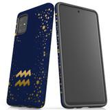 For Samsung Galaxy A51 5G/4G, A71 5G/4G, A90 5G Case, Tough Protective Back Cover, Aquarius Sign   Protective Cases   iCoverLover.com.au
