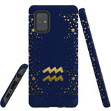 For Samsung Galaxy A71 4G Case, Tough Protective Back Cover, Aquarius Sign   Protective Cases   iCoverLover.com.au