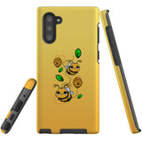 For Samsung Galaxy Note 10 Case, Tough Protective Back Cover, Honey Bees | Protective Cases | iCoverLover.com.au