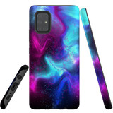 For Samsung Galaxy A51 5G Case, Tough Protective Back Cover, Abstract Galaxy   Protective Cases   iCoverLover.com.au