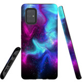 For Samsung Galaxy A71 4G Case, Tough Protective Back Cover, Abstract Galaxy   Protective Cases   iCoverLover.com.au