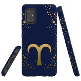 For Samsung Galaxy A51 5G Case, Tough Protective Back Cover, Aries Sign   Protective Cases   iCoverLover.com.au