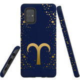 For Samsung Galaxy A71 4G Case, Tough Protective Back Cover, Aries Sign   Protective Cases   iCoverLover.com.au
