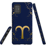 For Samsung Galaxy A71 5G Case, Tough Protective Back Cover, Aries Sign   Protective Cases   iCoverLover.com.au