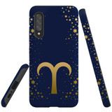 For Samsung Galaxy A90 5G Case, Tough Protective Back Cover, Aries Sign   Protective Cases   iCoverLover.com.au
