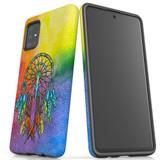 For Samsung Galaxy A51 5G/4G, A71 5G/4G, A90 5G Case, Tough Protective Back Cover, Colourful Dreamcatcher   Protective Cases   iCoverLover.com.au