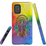 For Samsung Galaxy A71 4G Case, Tough Protective Back Cover, Colourful Dreamcatcher   Protective Cases   iCoverLover.com.au