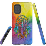 For Samsung Galaxy A71 5G Case, Tough Protective Back Cover, Colourful Dreamcatcher   Protective Cases   iCoverLover.com.au