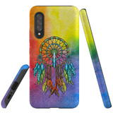 For Samsung Galaxy A90 5G Case, Tough Protective Back Cover, Colourful Dreamcatcher   Protective Cases   iCoverLover.com.au