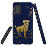 For Samsung Galaxy A51 5G Case, Tough Protective Back Cover, Aries Drawing | Protective Cases | iCoverLover.com.au