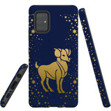 For Samsung Galaxy A71 5G Case, Tough Protective Back Cover, Aries Drawing | Protective Cases | iCoverLover.com.au