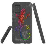 For Samsung Galaxy A51 5G Case, Tough Protective Back Cover, Colorful Lizard | Protective Cases | iCoverLover.com.au