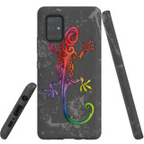 For Samsung Galaxy A71 4G Case, Tough Protective Back Cover, Colorful Lizard | Protective Cases | iCoverLover.com.au