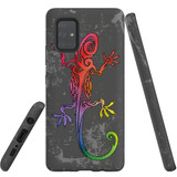 For Samsung Galaxy A71 5G Case, Tough Protective Back Cover, Colorful Lizard | Protective Cases | iCoverLover.com.au