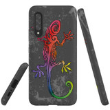 For Samsung Galaxy A90 5G Case, Tough Protective Back Cover, Colorful Lizard | Protective Cases | iCoverLover.com.au