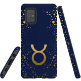 For Samsung Galaxy A71 4G Case, Tough Protective Back Cover, Taurus Sign   Protective Cases   iCoverLover.com.au