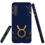 For Samsung Galaxy A90 5G Case, Tough Protective Back Cover, Taurus Sign   Protective Cases   iCoverLover.com.au