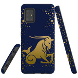 For Samsung Galaxy A51 5G Case, Tough Protective Back Cover, Capricorn Drawing | Protective Cases | iCoverLover.com.au
