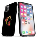 For Apple iPhone 13 Pro Max/13 Pro/13/13 mini,12 Pro Max/12 Pro/12/12 mini Case, Tough Protective Back Cover, Embellished Letter C   Protective Cases   iCoverLover.com.au